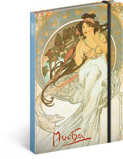 Notes A5 Alfons Mucha – Hudba-1