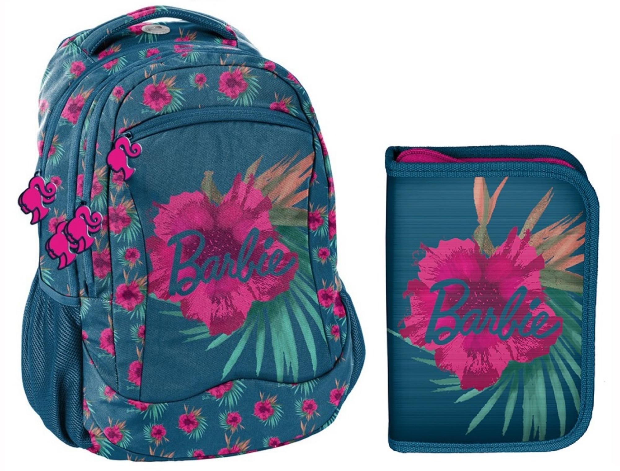 Levně Barbie Školní set Růžové květy