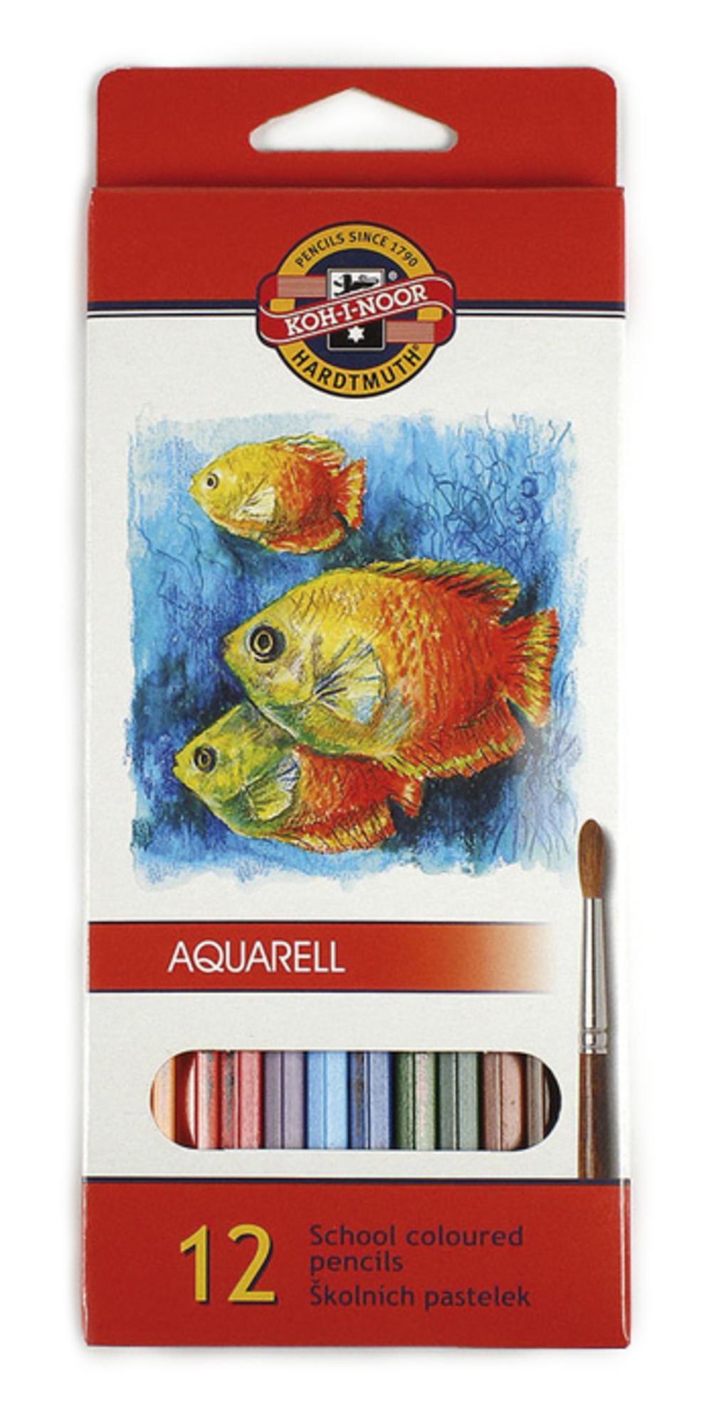 Koh-i-Noor Akvarelové pastelky Mondeluz, 12 barev