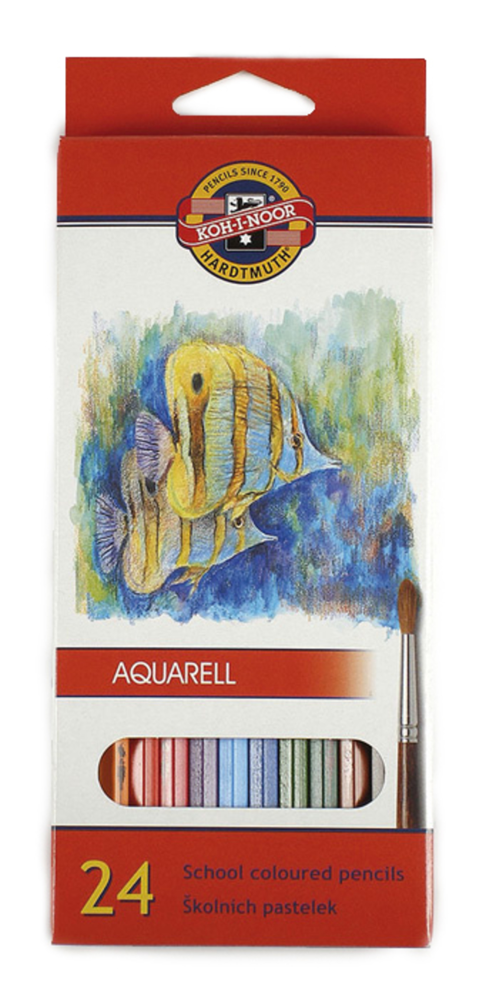 Koh-i-Noor Akvarelové pastelky Mondeluz, 24 barev