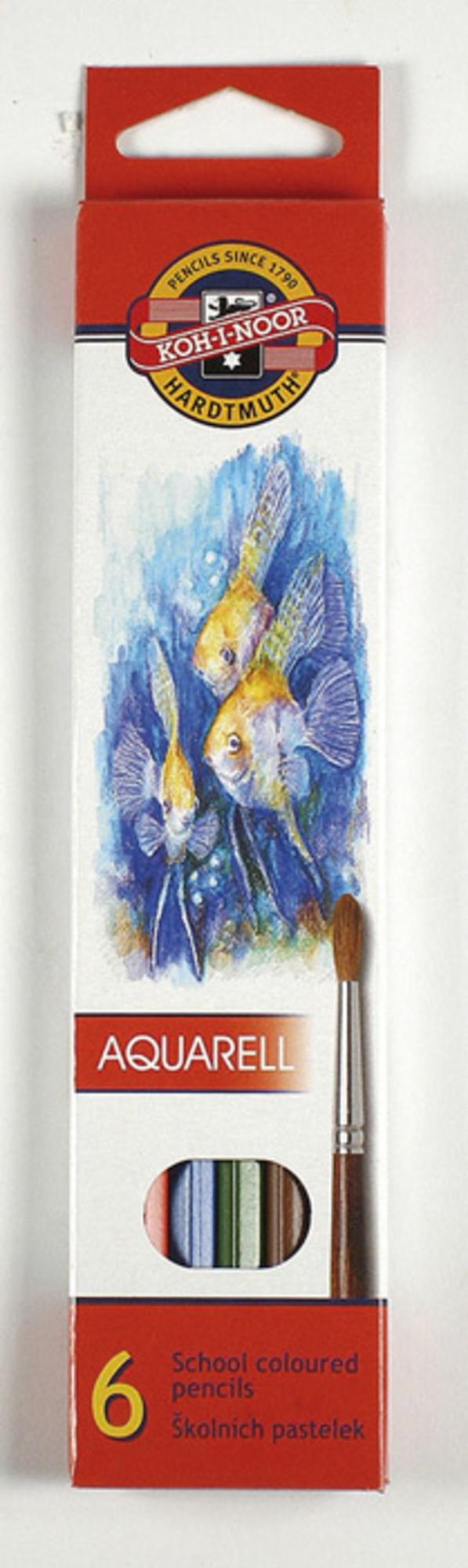 Koh-i-Noor Akvarelové pastelky Mondeluz, 6 barev