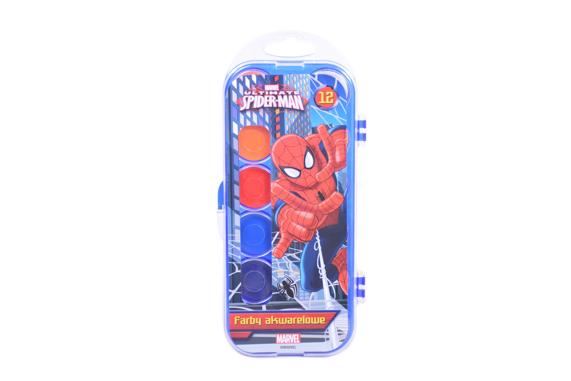 St.Majewski Vodové barvy Spiderman, 12 ks