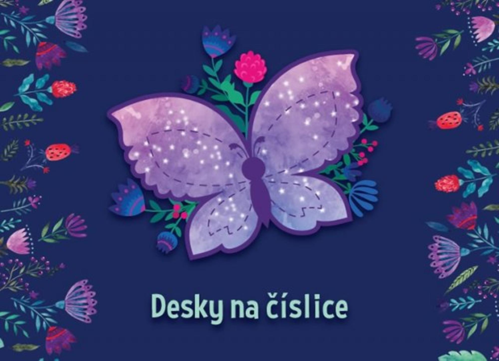 Desky na číslice Motýli
