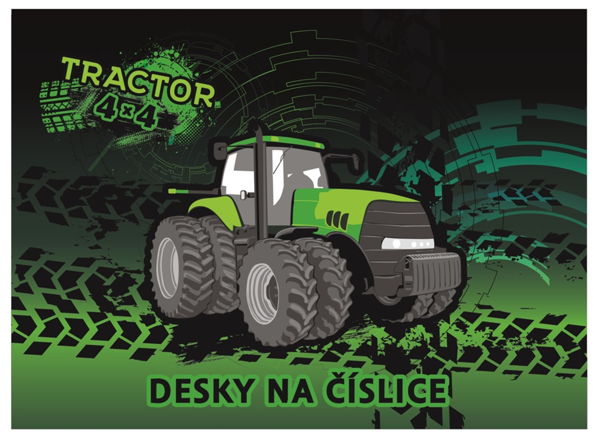 Karton P+P Desky na číslice traktor